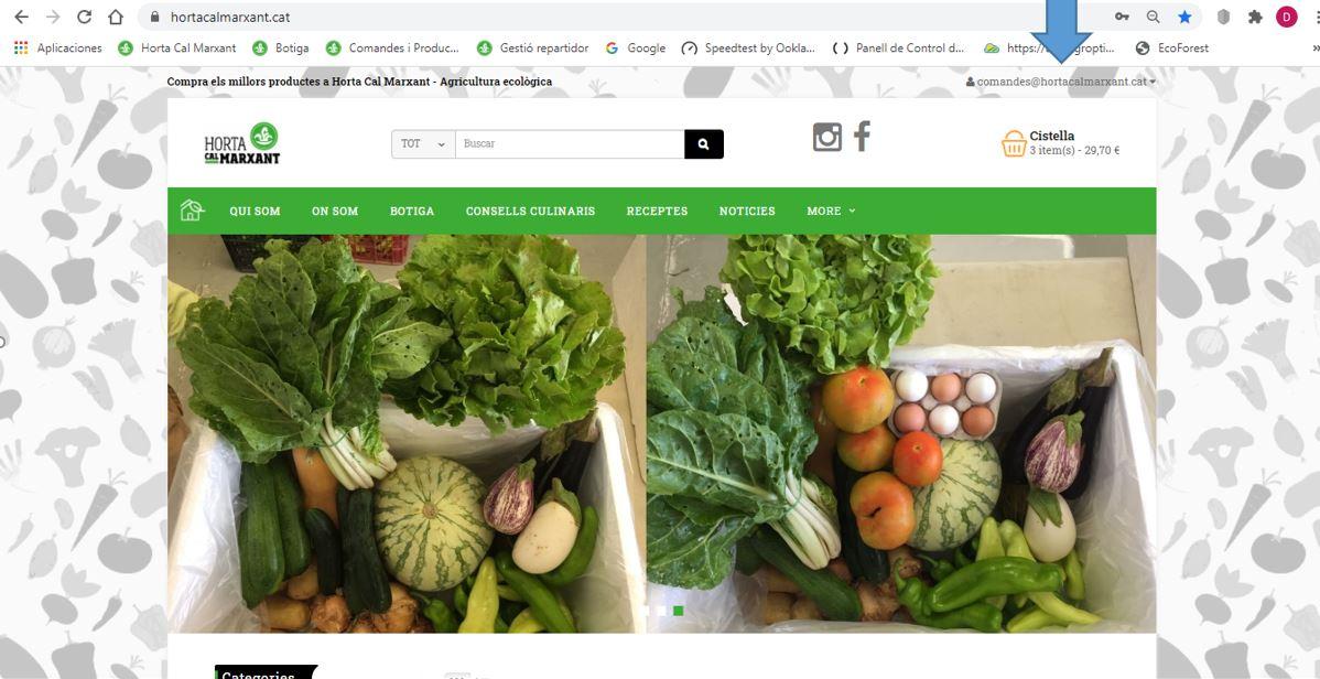 Tutorial - Indicació loguin a la web