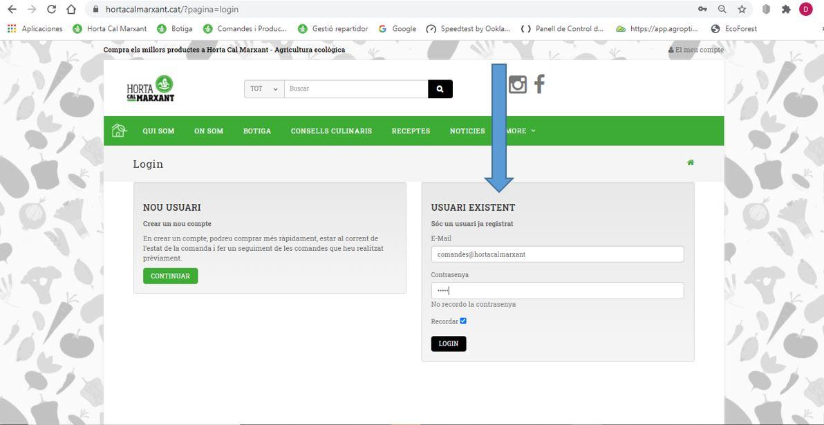 Tutorial - registre a la web